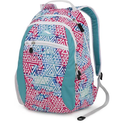 High Sierra Curve Backpack (Galaxy Tribe / Teal / White)