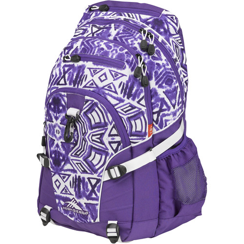 High Sierra Loop Backpack (Shibori / Deep Purple / White)