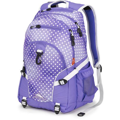 High Sierra Loop Backpack (Sprinkle Dots / Lavender / White)
