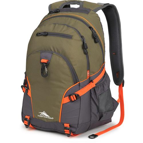 High Sierra Loop Backpack (Moss / Mercury / Electric Orange)