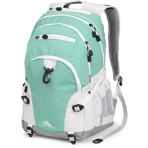 High Sierra Loop Backpack (Aquamarine / White / Ash)