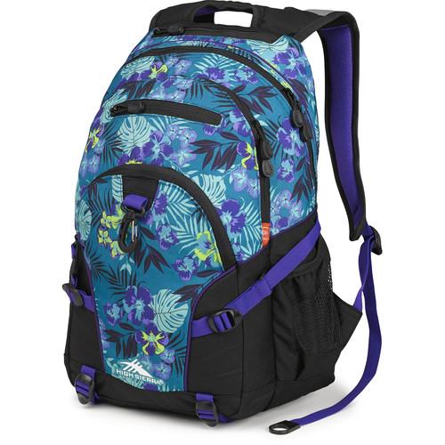 High Sierra Loop Backpack (Aloha / Black / Deep Purple)