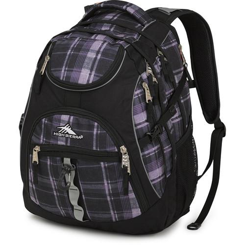 High Sierra Access Backpack (Slate Plaid / Black)