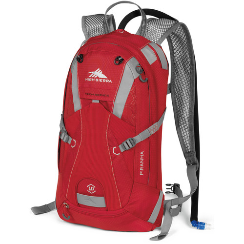 High Sierra Piranha Hydration Pack (10L, Red / Silver)