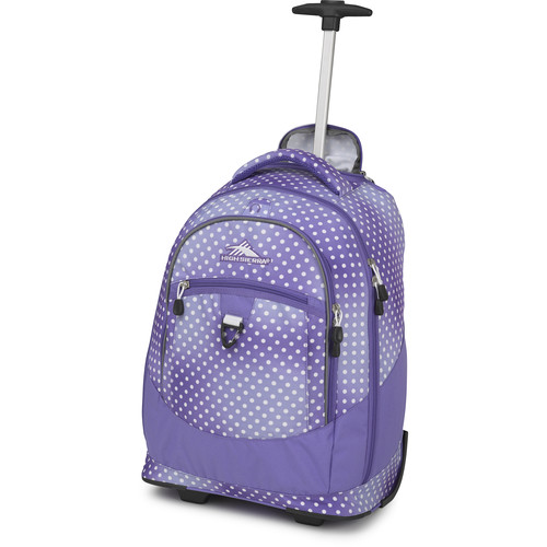 High Sierra Chaser Wheeled Backpack (Sprinkle Dots / Lavender)