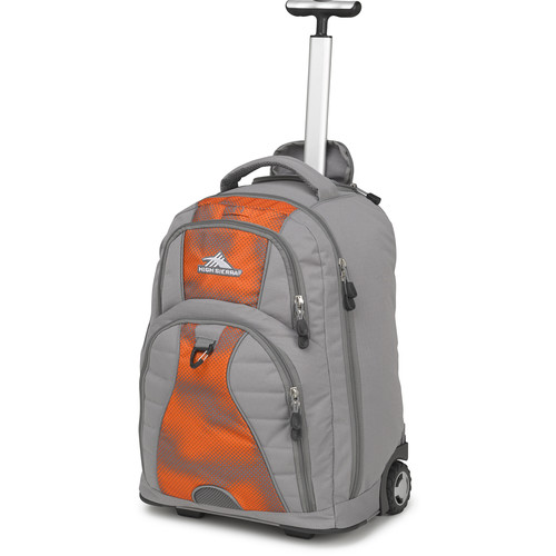 High Sierra Freewheel Wheeled Backpack (Charcoal / Hyper Dot)