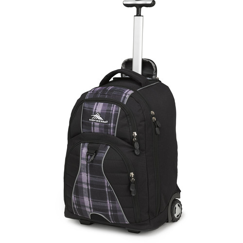 High Sierra Freewheel Wheeled Backpack (Black / Slate Plaid)