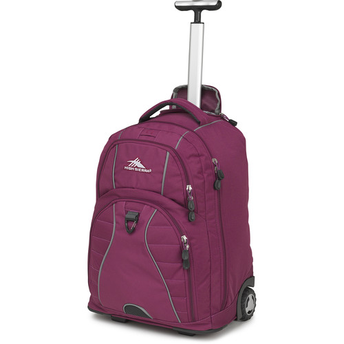 High Sierra Freewheel Wheeled Backpack (Berry Blast)