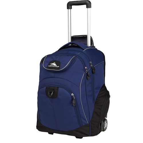 High Sierra Powerglide Wheeled Backpack (Navy / Black)