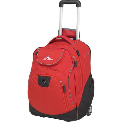 High Sierra Powerglide Wheeled Backpack (Crimson / Black)