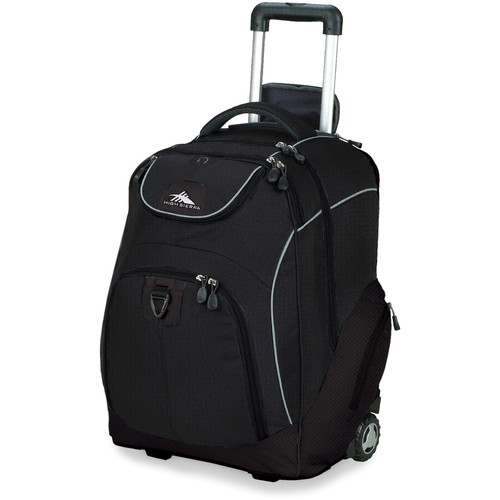 High Sierra Powerglide Wheeled Backpack (Black)