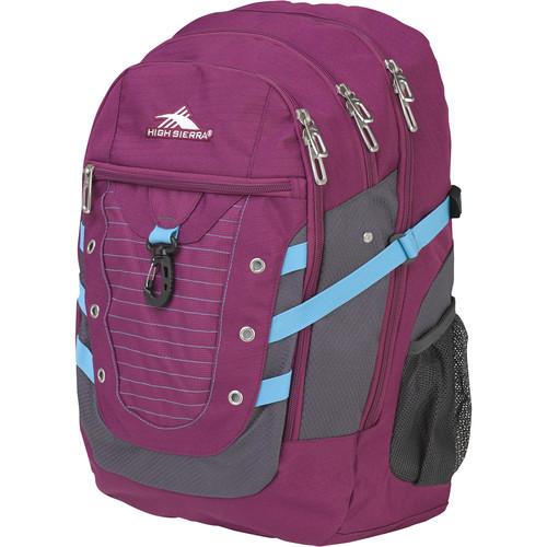 High Sierra Tactic Backpack (Berry Blast / Mercury / Teal)