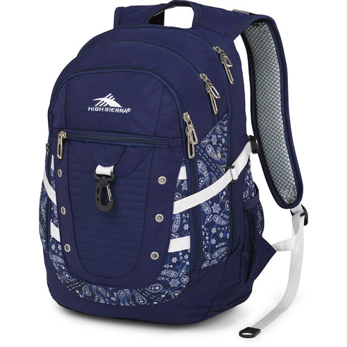 High Sierra Tactic Backpack (True Navy / Bandana / White)
