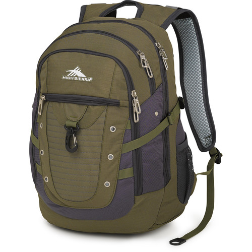 High Sierra Tactic Backpack (Moss / Mercury)