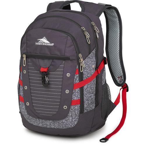 High Sierra Tactic Backpack (Mercury / Static / Crimson)