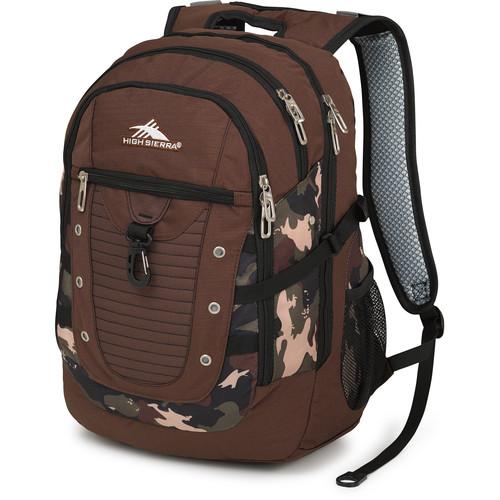 High Sierra Tactic Backpack (Chocolate / Whamo Camo / Black)