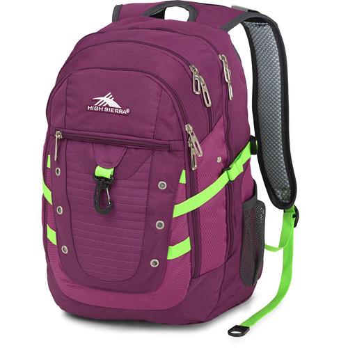 High Sierra Tactic Backpack (Berry Blast / Razzmatazz / Lime / Mercury)
