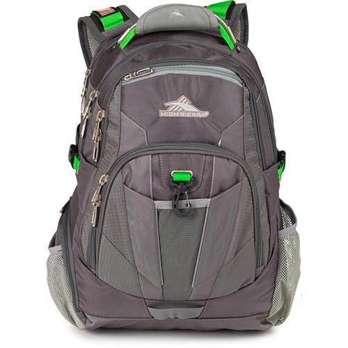 High Sierra XBT TSA Backpack (Charcoal Silver Kelly)