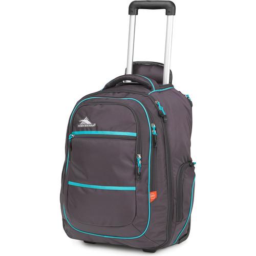 High Sierra Rev Wheeled Backpack (Mercury / Tropic Teal)