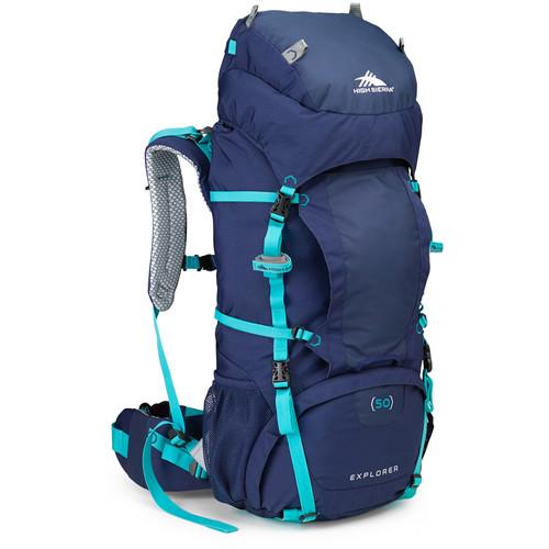 High Sierra Women's Explorer 50 Internal Frame Pack (True Navy, Tropic Teal)