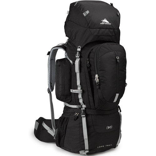 High Sierra Long Trail 90 Internal Frame Pack (Black, Silver)