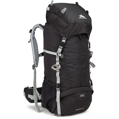 High Sierra Summit 45 Internal Frame Pack (Black / Silver)