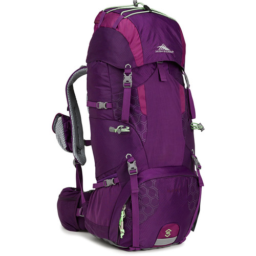 High Sierra Hawk 45 Internal Frame Pack (Eggplant / Berry Blast / Lime, Women's)