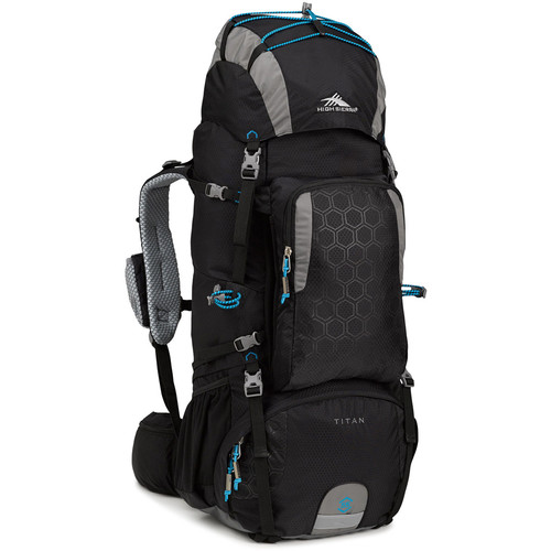 High Sierra Titan 55 Internal Frame Pack (Black / Charcoal / Pool)