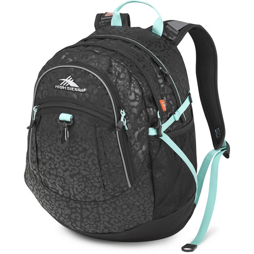 High Sierra Fatboy Revamp Backpack (Leopard / Black / Aqua)