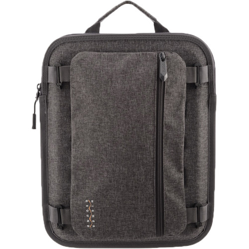 """Higher Ground 11"""" Capsule Laptop Sleeve with Shoulder Strap and Power Pocket (Grey)"""