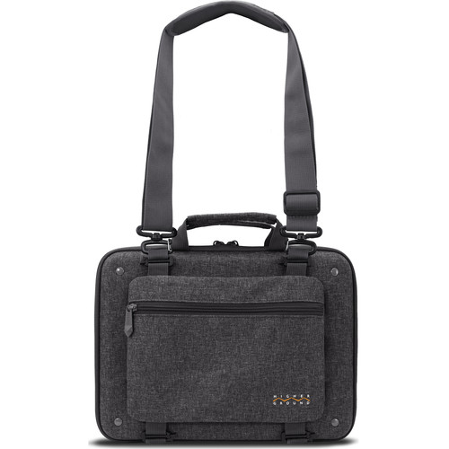 """Higher Ground Shuttle 3.0 14"""" Laptop Case with Shoulder Strap and Power Pocket (Gray)"""