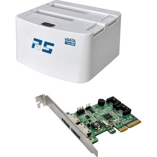 HighPoint RocketStor 5322 Dual-Dedicated 6 Gbps eSATA Storage Dock Kit with 4-Port SATA RAID HBA