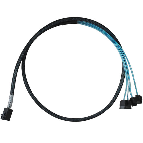HighPoint SFF-8643 to Controller and 4 x SATA to 4 x SATA Drives Cable (3.3')