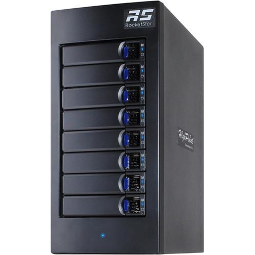 HighPoint rDrive 6628 Series 64TB 8-Bay Thunderbolt 3 Hardware RAID Array for Windows (8 x 8TB)