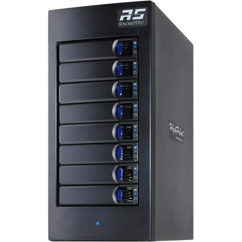 HighPoint rDrive 6628 Series 64TB 8-Bay Thunderbolt 3 Turbo RAID Array for Windows (8 x 8TB)