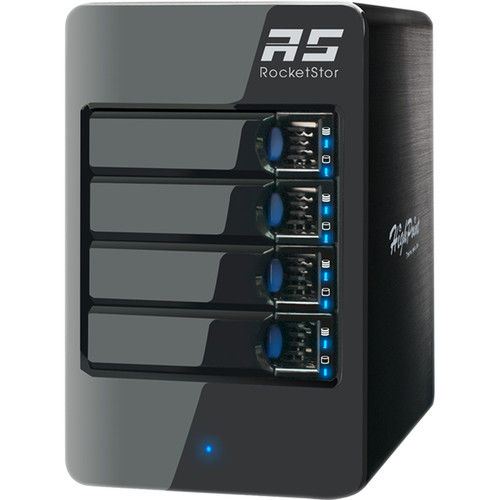 HighPoint RocketStor 6314A 40TB 4-Bay Thunderbolt 2 RAID Enclosure and Drives Kit (4 x 10TB)