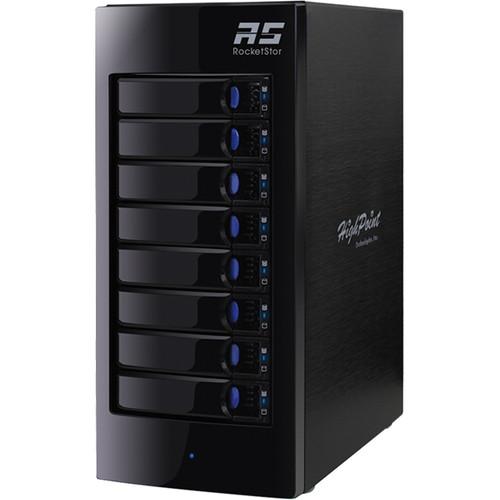 HighPoint RocketStor 6318A 80TB 8-Bay Thunderbolt 2 RAID Enclosure and Drives Kit (8 x 10TB)