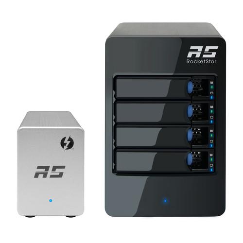 HighPoint RocketStor 6324LS 4-Bay JBOD Solution with Thunderbolt 2 Adapter