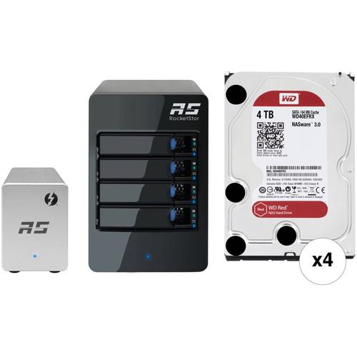 HighPoint RocketStor 6324LS 16TB (4x4TB) 4-Bay Thunderbolt 2 JBOD Kit