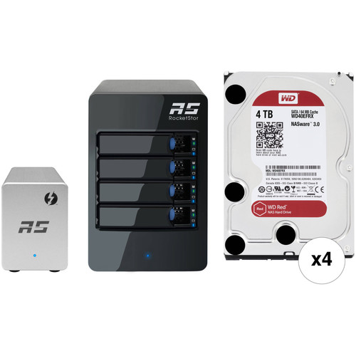HighPoint RocketStor 6324LS 16TB (4x4TB) 4-Bay Thunderbolt 2 JBOD Kit