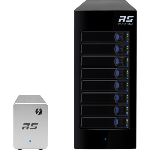 HighPoint RocketStor 6328LS 8-Bay JBOD Solution with Thunderbolt 2 Adapter