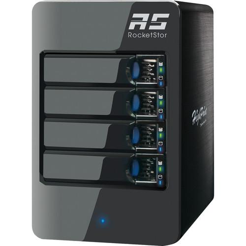 HighPoint RocketStor 6414VS 4-Bay Q-SATA Value RAID Tower Enclosure