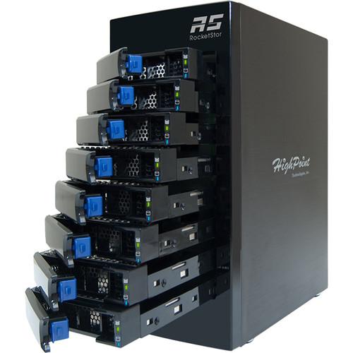 HighPoint RocketStor 6418AS 64TB 8-Bay Mini-SAS RAID Enclosure with Drives Kit (8 x 8TB)