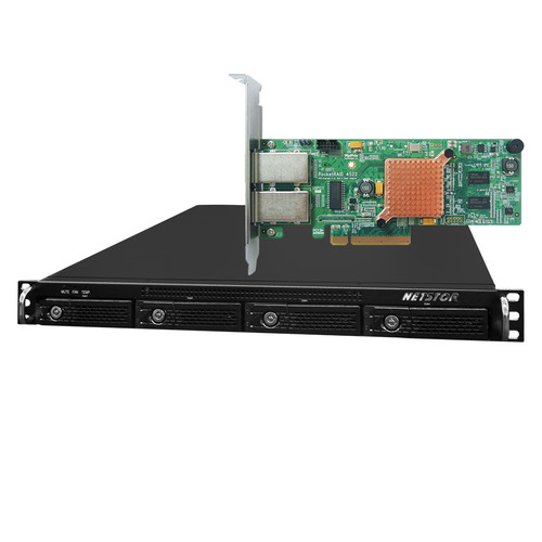 HighPoint RocketStor 6421AS 4-Bay SAS/SATA Hardware RAID Rackmount Enclosure