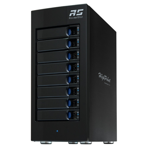 HighPoint RocketStor 6618A 48TB 8-Bay Thunderbolt 3 RAID Enclosure with Drives Kit (8 x 6TB)