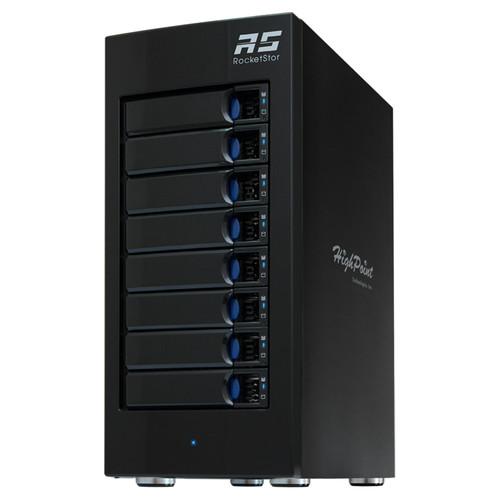 HighPoint RocketStor 6618A 64TB 8-Bay Thunderbolt 3 RAID Enclosure with HDDs Kit (8 x 8TB)