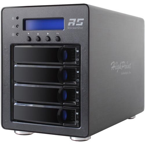 HighPoint RocketStor 6124V 4-Bay USB 3.1 Gen 2 RAID Enclosure