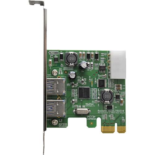 HighPoint RocketU 1022C Dual-Port USB 3.1 Gen 1 SuperSpeed PCIe 2.0 Host Bus Adapter
