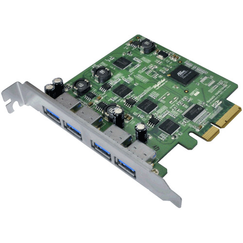 HighPoint RocketU 1144D 4-Port USB 3.0 PCIe 2.0 x4 HBA Controller Card
