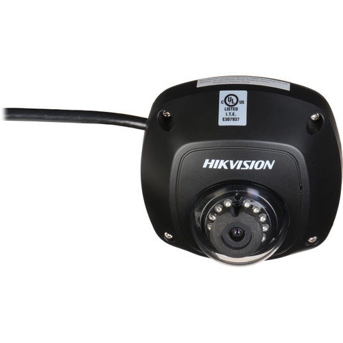 Hikvision 4MP Outdoor Network Mini Dome Camera with Night Vision and 6mm Lens (Black)